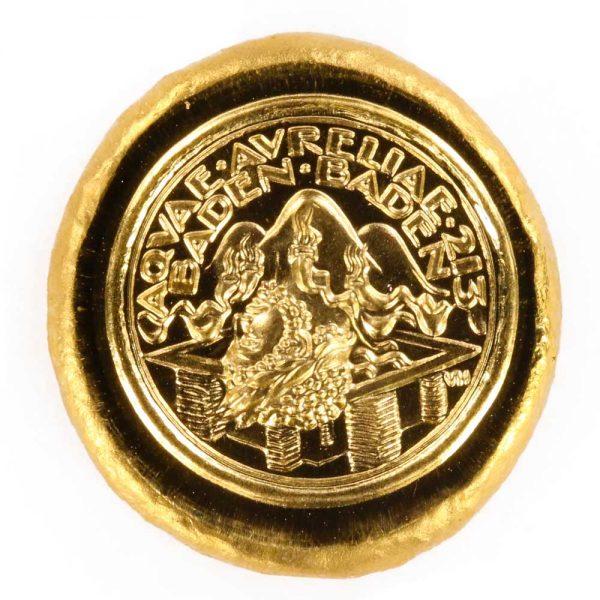 Goldmünze aus Rheingold der Region Baden-Baden